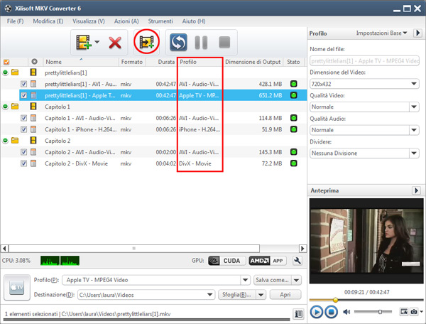 Come convertire file MKV in più formati