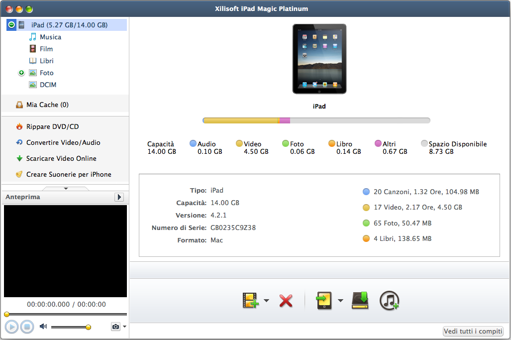 Xilisoft iPad Magic per Mac