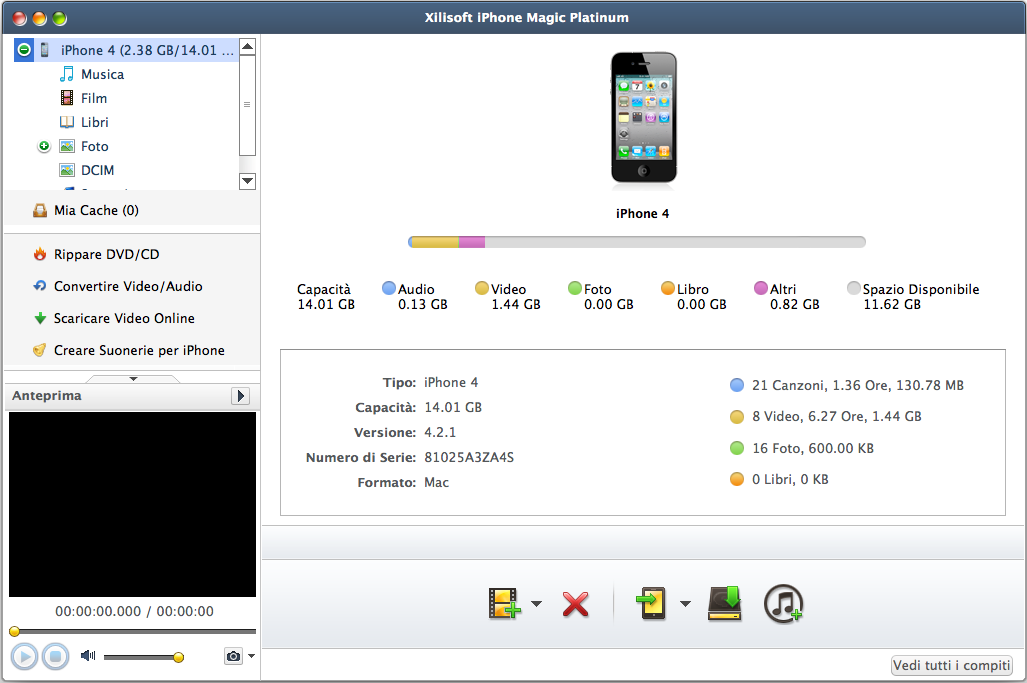 Xilisoft iPhone Magic Platinum per Mac